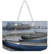 The Green Canoe Weekender Tote Bag by Debra and Dave Vanderlaan