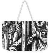 The Guillotine, 18th Century Weekender Tote Bag by Science Source