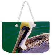 The Happy Pelican Weekender Tote Bag by Karen Wiles