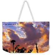 The Heavens Tell Weekender Tote Bag