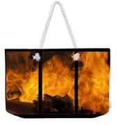The Home Fires Are Burning Triptych Weekender Tote Bag