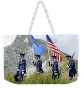 The Honor Guard Posts The Colors Weekender Tote Bag