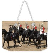 The Household Cavalry Performs Weekender Tote Bag by Andrew Chittock