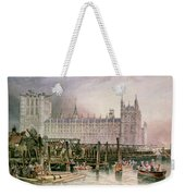 The Houses Of Parliament In Course Of Erection Weekender Tote Bag