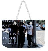 The Human Zoo Weekender Tote Bag