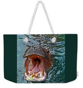 The Hungry Hippo Weekender Tote Bag