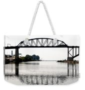 The International Peace Bridge Between The United States  And Canada Weekender Tote Bag