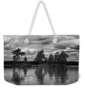 The Island In The Midlle In Bw Weekender Tote Bag