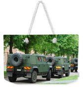 The Iveco Lmv Of The Belgian Army Weekender Tote Bag