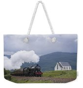 The Jacobite Express At Lochailort Church Weekender Tote Bag