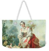 The Joys Of Motherhood Weekender Tote Bag by Jean-Honore Fragonard