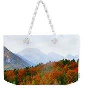 The Julian Alps In Autumn At Lake Bohinj Weekender Tote Bag