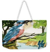 The Kingfisher Weekender Tote Bag