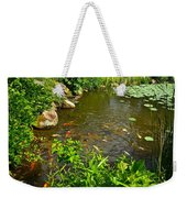 The Koi Are Feeding Weekender Tote Bag