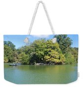 The Lake In Central Park Weekender Tote Bag