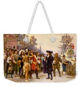 The Landing Of William Penn, 1682 Weekender Tote Bag by Photo Researchers