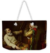 The Last Moments Of Christopher Columbus  Weekender Tote Bag by Claude Jacquand