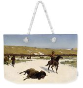 The Last Of The Herd Weekender Tote Bag by Henry Francois Farny