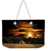 The Late Sam's Rd. Barn In The Moonlight Weekender Tote Bag
