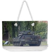 The Leopard 1a5 Of The Belgian Army Weekender Tote Bag by Luc De Jaeger