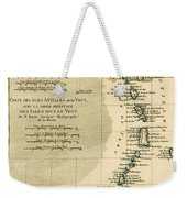 The Lesser Antilles Or The Windward Islands Weekender Tote Bag by Guillaume Raynal