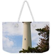 The Lighthouse At Cape May New Jersey Weekender Tote Bag by Bill Cannon