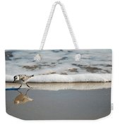 The Lone Sandpiper Weekender Tote Bag
