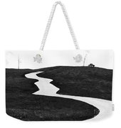 The Long And Winding Road Bw Weekender Tote Bag