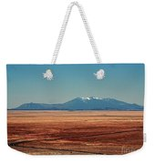 The Long Road To The Meteor Crater In Az Weekender Tote Bag