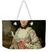The Love Letter Weekender Tote Bag by Francois Martin-Kayel