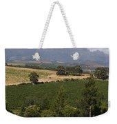 The Lush Garden Landscape Of A Vineyard Weekender Tote Bag