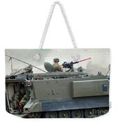 The M113 Tracked Infantry Vehicle Weekender Tote Bag by Luc De Jaeger