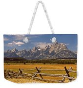 The Majestic Tetons Weekender Tote Bag