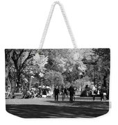 The Mall At Central Park In Black And White Weekender Tote Bag