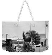 The Man Of Steel On I 95 Weekender Tote Bag