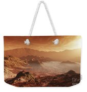 The Martian Sun Sets Over The High Weekender Tote Bag