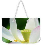 The Middle Of A Lotus Weekender Tote Bag