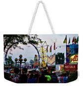 The Midway Lights Up Weekender Tote Bag