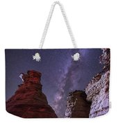 The Milky Way Rises Above The Wedding Weekender Tote Bag