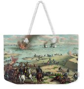 The Monitor And The Merrimac 1862 Weekender Tote Bag by Photo Researchers