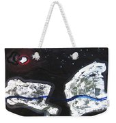 The Moon And Two Rocks Weekender Tote Bag