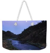 The Moon Appears Over The Rogue River Weekender Tote Bag
