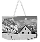 The Moulton House In Winter Weekender Tote Bag