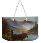 The Mountain Moose Weekender Tote Bag
