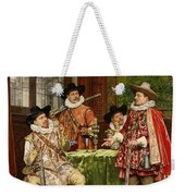The Musketeer's Tale Weekender Tote Bag by Adolphe Alexandre Lesrel