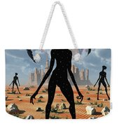 The Mysterious Black Shape Of Beings Weekender Tote Bag