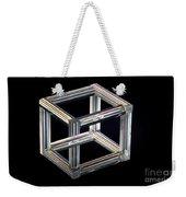 The Necker Cube Weekender Tote Bag