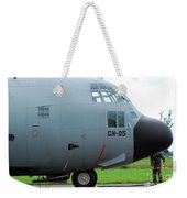 The Nose Of A Hercules C-130 Airplane Weekender Tote Bag by Luc De Jaeger