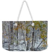 The October Blizzard Begins Weekender Tote Bag