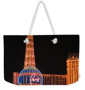 The Paris At Night Weekender Tote Bag
